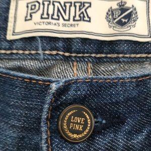 Pink Victoria Secret boot Cut Women's Jeans